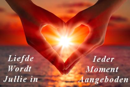 liefde aangeboden